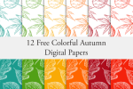12 Autumn Leaves Papers Download