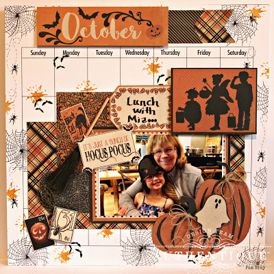 Halloween Calendar Layout