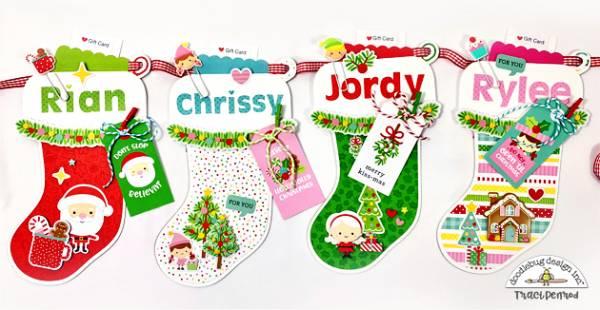 Stocking Banner Gift Card Holders