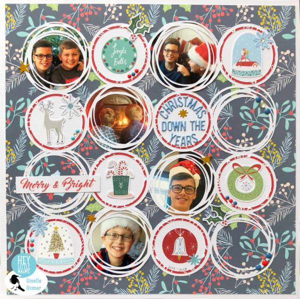 Circle Grid Christmas Layout