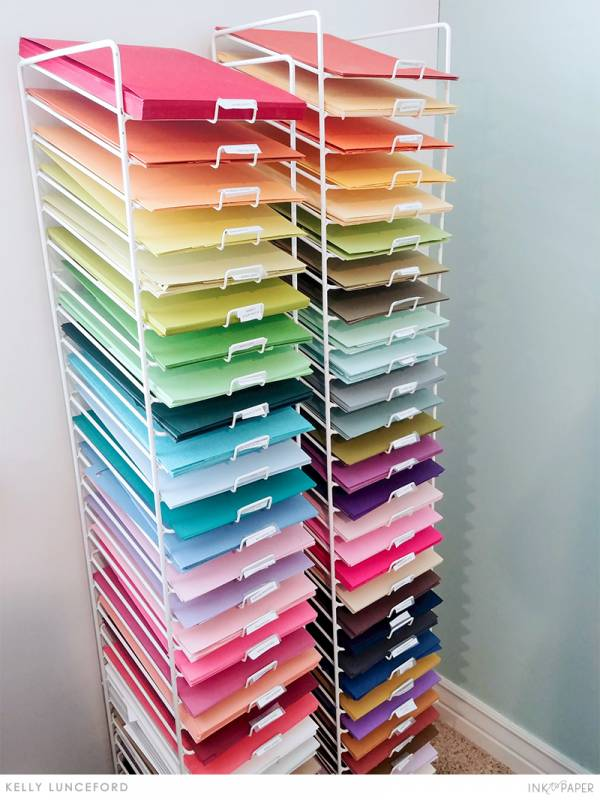 Craft Room Storage for Cardstock and Dies