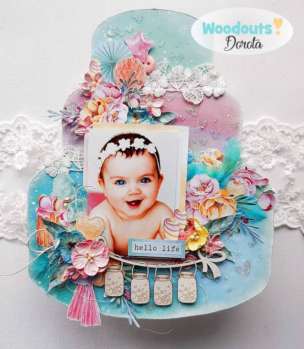 Baby Girl Cake Layout