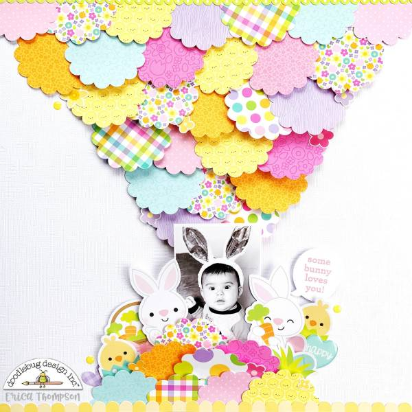 Scalloped Circles Easter Layout