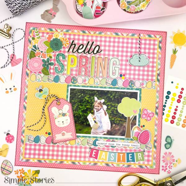 Bunny Trail Easter Layout