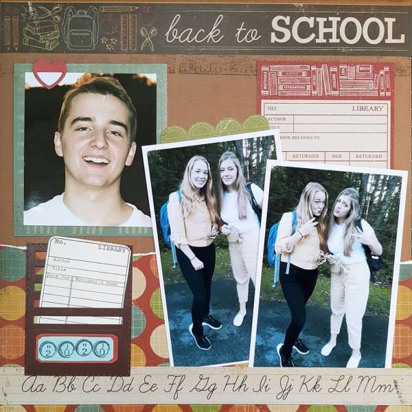 Back to School Layout and Cards