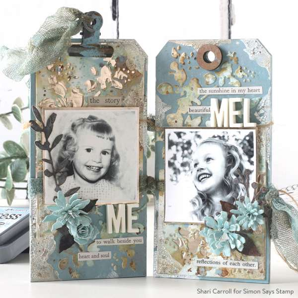 Mixed Media Photo Display Tags
