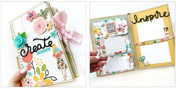 10 Mini Scrapbook Album Designs