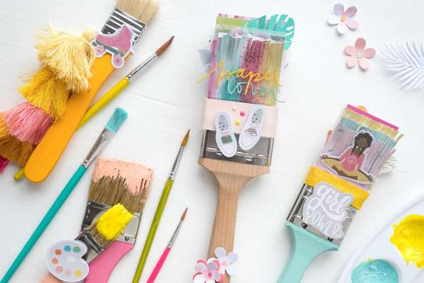 Paint Brush Mini Albums