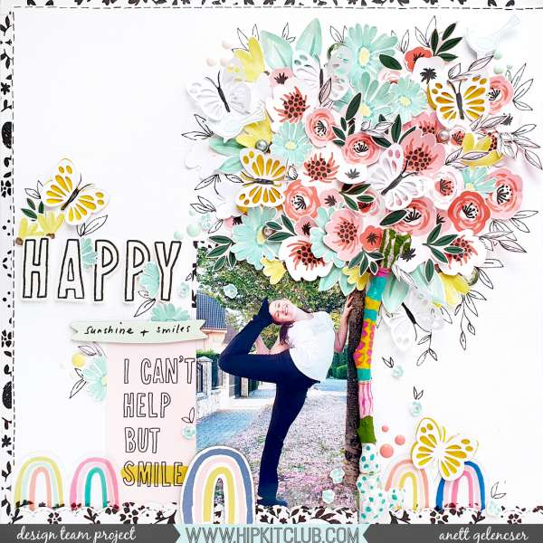 Large Tree Scrapbook Page