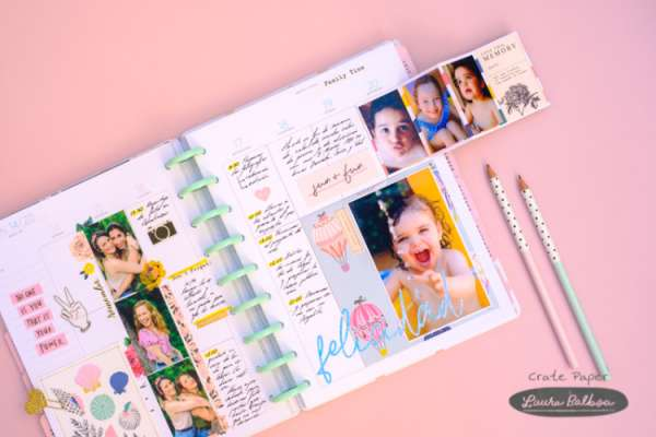 Weekly Planner Style Scrapbook Pages