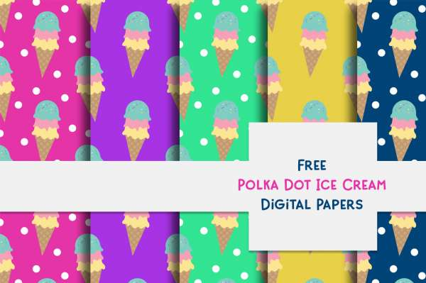 Ice Cream Pattern Papers