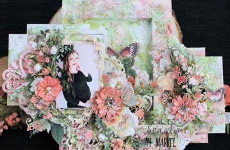 Mixed Media Pregnancy Layout