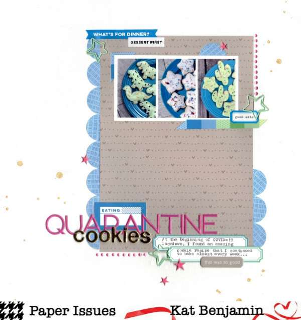 Quarantine Cookies Layout