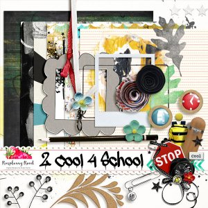 School Digital Scrapbooking Elements Download