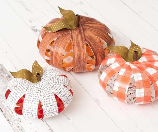 3D Paper Pumpkins
