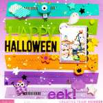 Colorful Halloween Layout