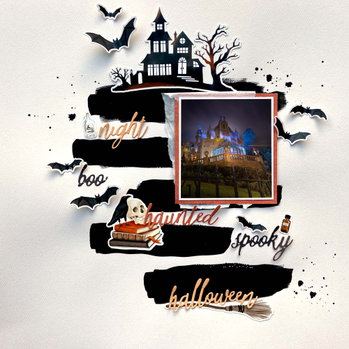 Black Stripes Halloween Layout