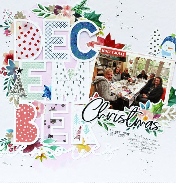 December Christmas Layout
