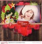Rustic Red Christmas Layout