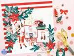 Poinsettia Scrapbook Page