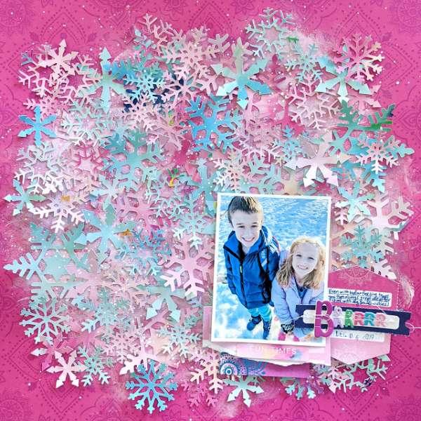 Snowflake Background Layout