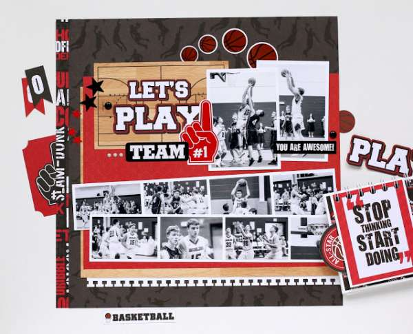 Basket Ball Layout and Mini Album