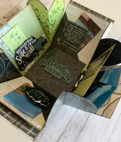 Adventure Scrapbook Explosion Box