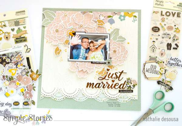 Just Married Wedding Layout