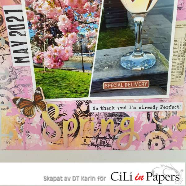 Mixed Media Spring Scrapbook Layout