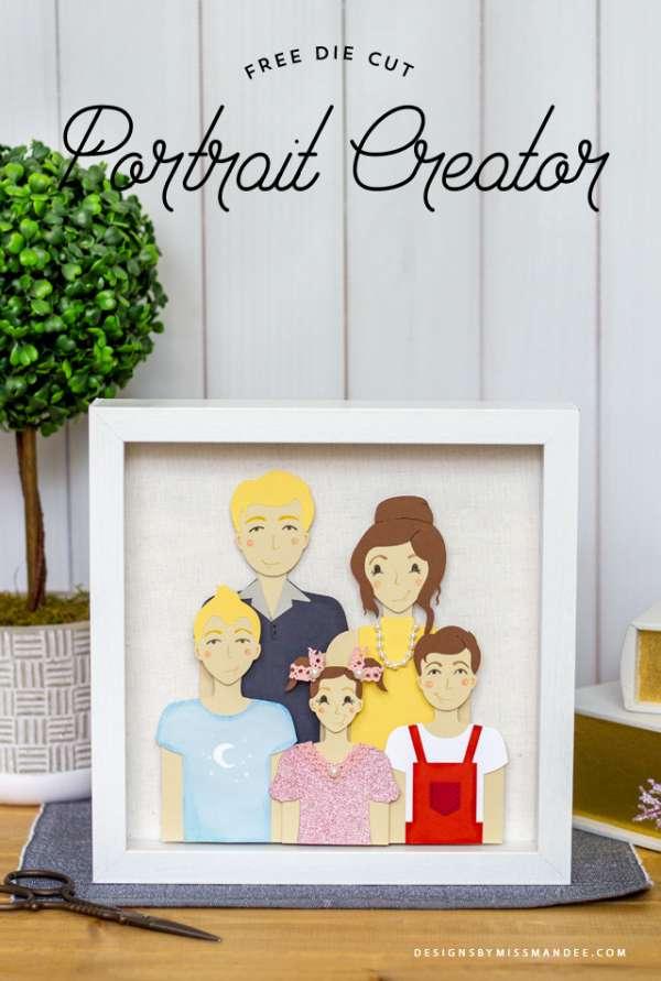 Customizable Family Portrait Dies