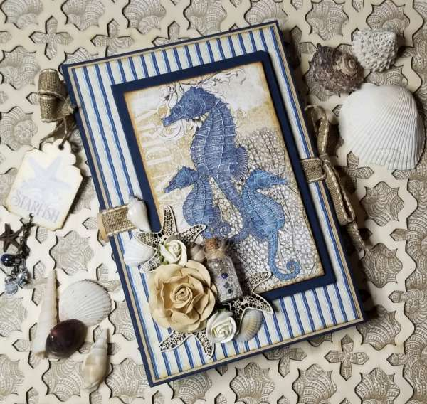 Beach Mini Scrapbook Album