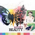 Rainbow Butterfly Scrapbook Layout