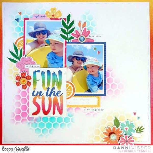 Fun the the Sun Scrapbook Layout