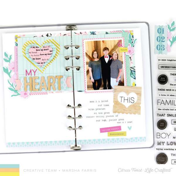 Helpful Tip for Scrapbook Sketches (plus a sketch)