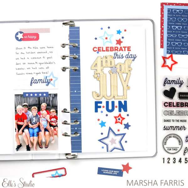 Fourth of July Traveler's Notebook Pages