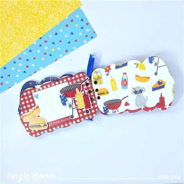 4th of July Mini Album with Free Cut File