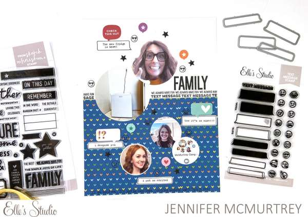 Family Chat Scrapbook Layout