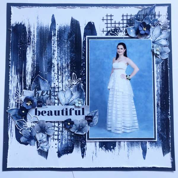 Monochromatic Formal Dress Layout
