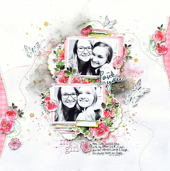 Mother and Daughter Scrapbook Page