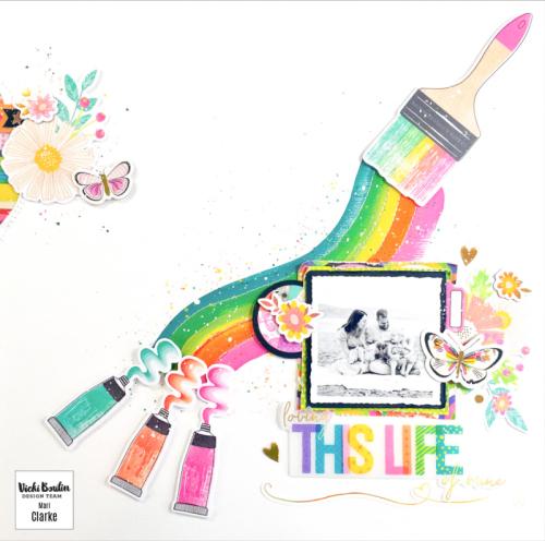 Rainbow Paint Brush Layout
