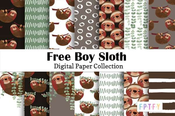 14 FREE Sloth Papers