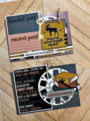 Embellishment Cluster Scrapbook Cards