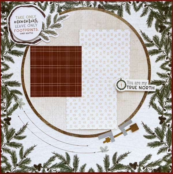 Faux Embroidery Hoop Layout
