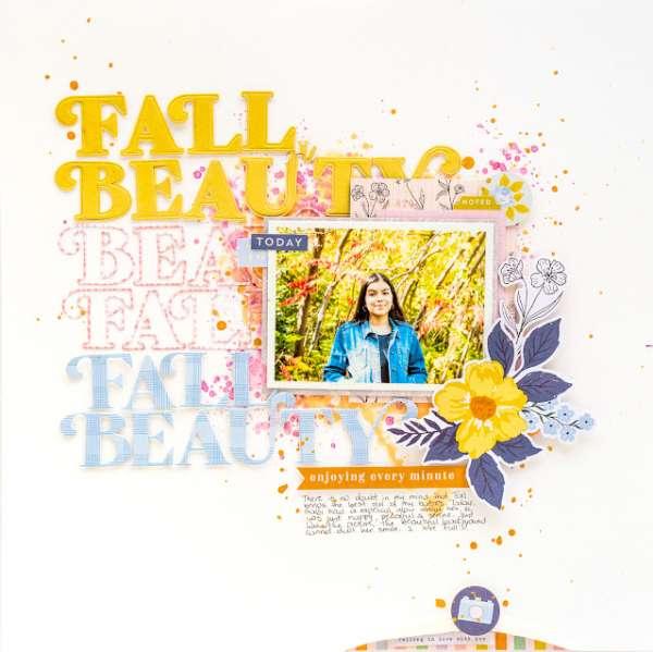Fall Beauty Layout