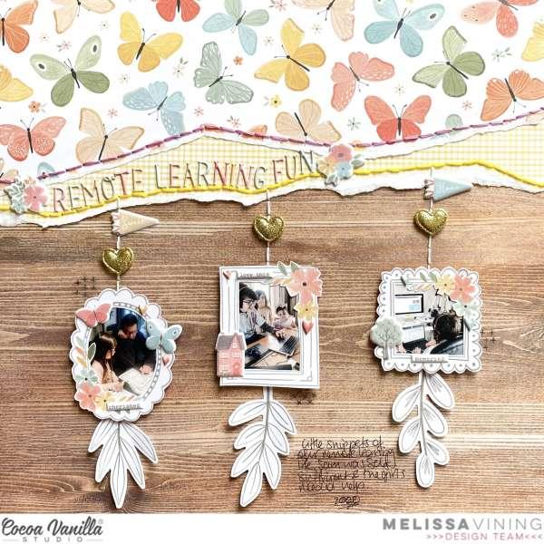 Hanging Frames Scrapbook Layout