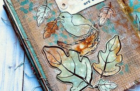 Autumn Art Journal Page