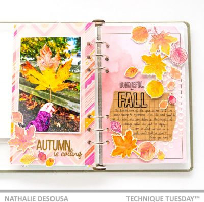 Fall Leaves Stamped Layout