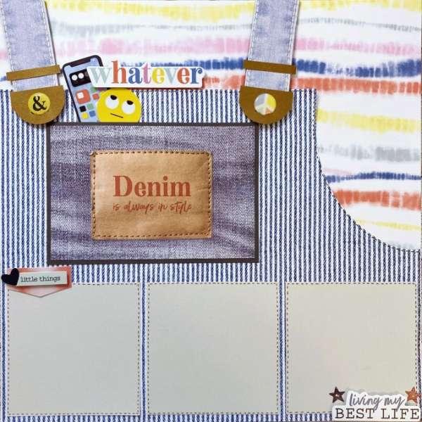 Denim Overalls Scrapbook Layout