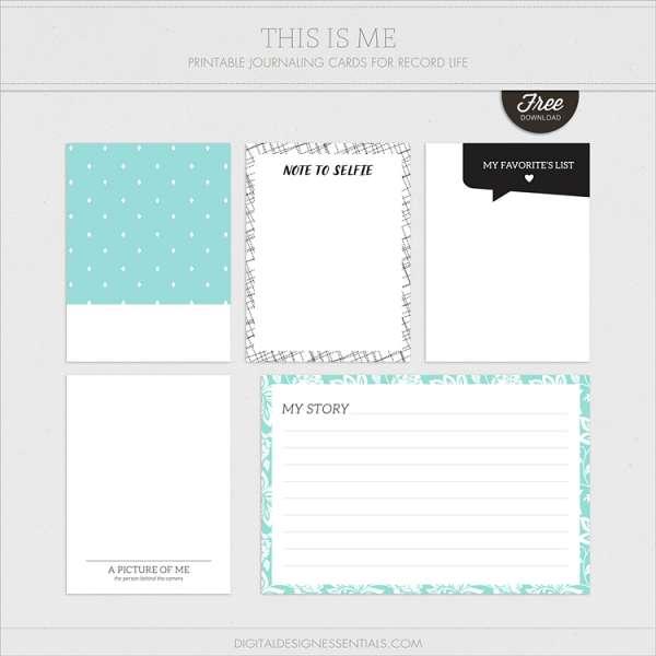 Pocket Journaling Cards FREEBIE