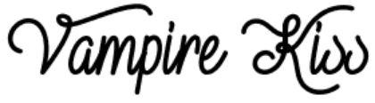 """Vampire Kiss"" Free Font"